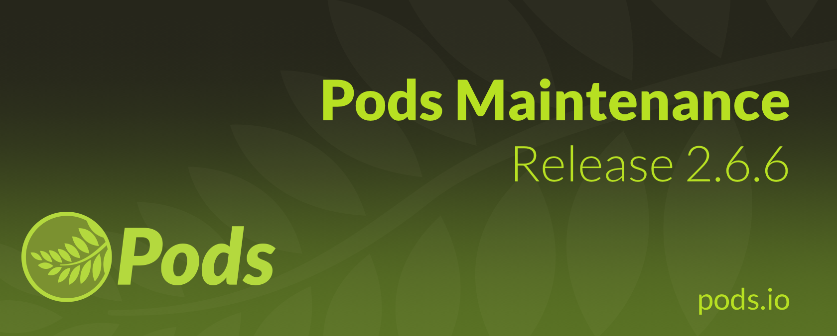 Pods Maintenance Release 2.6.6, Pods Alternative Cache 2.0, Pods SEO 2.0, and Pods Gravity Forms 1.1 - Pods Framework