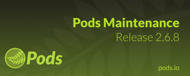 Pods Maintenance Release 2.6.8